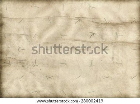 old paper on selling topic - stock photo