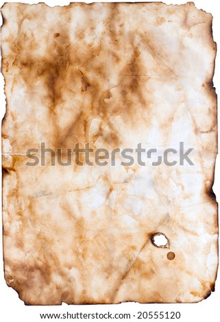 old paper or parchment - stock photo