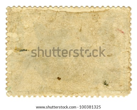 Old paper. Postage stamp. - stock photo