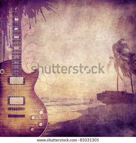 Old Paper. Retro Music Texture Background. Vector. - stock photo
