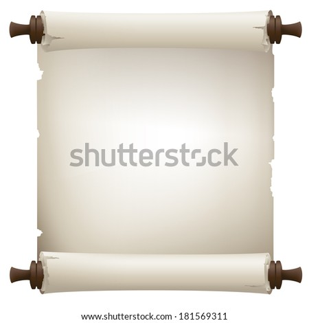 old paper scroll banner - stock photo