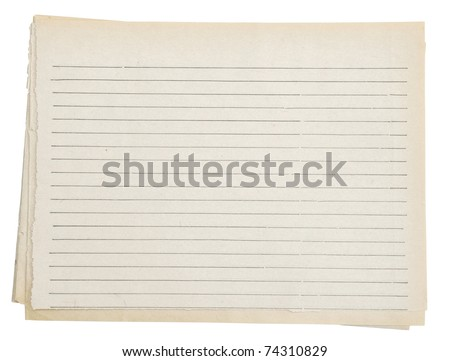 Old paper. Series. Isolated on white. - stock photo