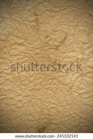 old paper sheet background with copy space - stock photo