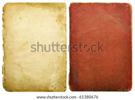 old paper sheets isolated on white - stock photo