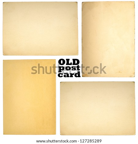 Old paper sheets isolated on white background - stock photo