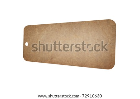 Old paper tag - stock photo