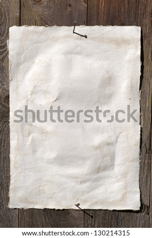 Old paper texture background (handmade)  document - very old paper for artistic writing with delicate stripes pattern