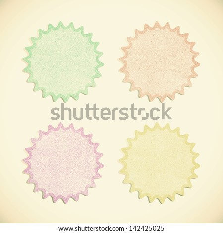 Old Paper texture ,bubble talk tag on white background - stock photo