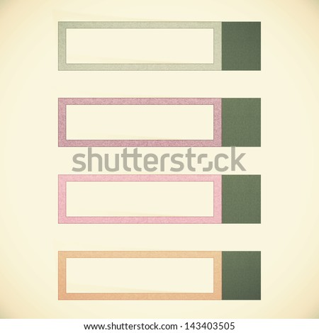 Old Paper texture ,Header tag recycled paper on vintage tone background - stock photo