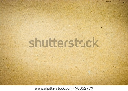Old paper texture in yellow tone - stock photo