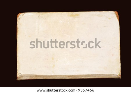 old paper texture on black background - stock photo