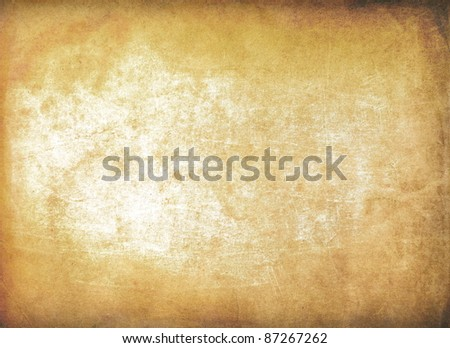Old paper texture, scratched surface - stock photo