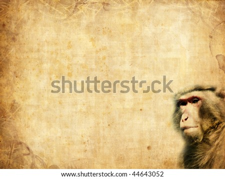 old paper texture template monkey stock illustration 44643052, Powerpoint templates