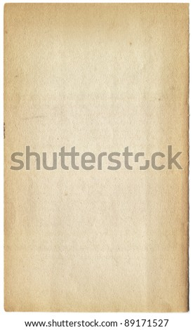 Old paper texture with age marks - stock photo