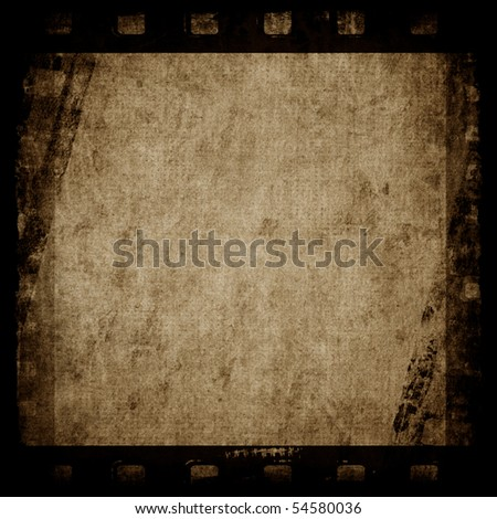 Old paper texture with film strip - stock photo