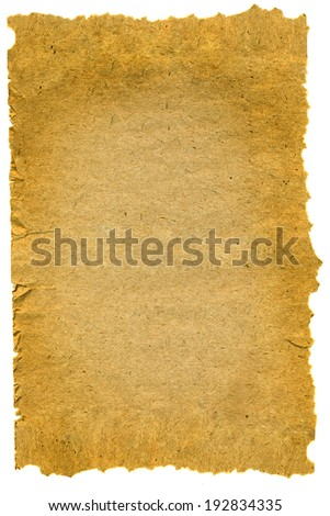 old paper texture with natural patterns . isolated