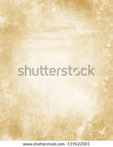 Old paper texture with spots, stains and soft folds - stock photo