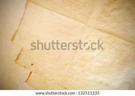 Old paper textures, stack of pages with space - stock photo