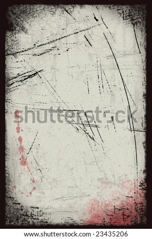 Old paper with blood spots illustration in Grunge style - stock photo