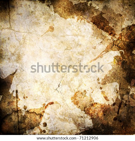 Old paper with blots - stock photo