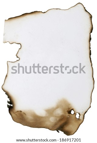 old paper with burnt edges great as a background - stock photo