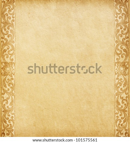 Old paper with oriental ornament - stock photo
