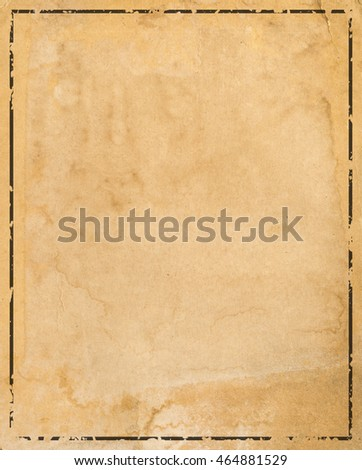 Old paper with patterned vintage frame - blank for your design