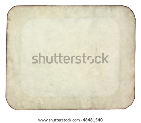 old paper with rough edges - stock photo