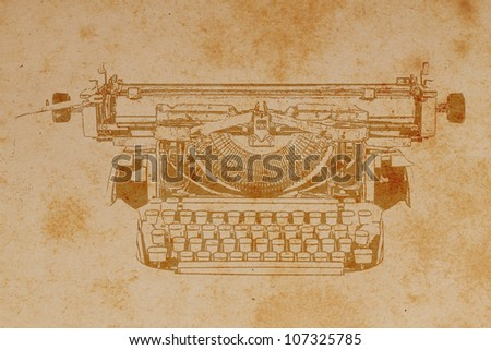 Old paper with Typewriter Pattern.Vintage background. - stock photo