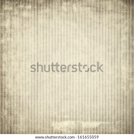 Old paper with vertical stripes for background or texture - stock photo