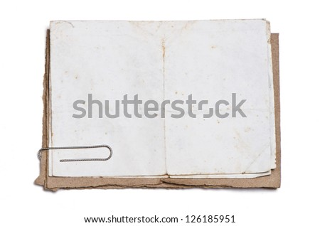 old papers - stock photo