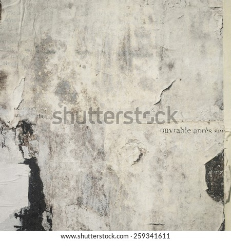 old papers in a board  - stock photo