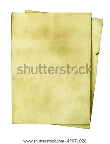 Old papers isolated over white background - stock photo