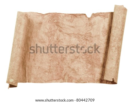 Old papers with texture and scrolls
