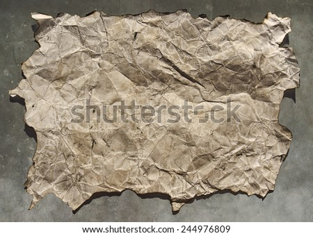 old parchment, - stock photo