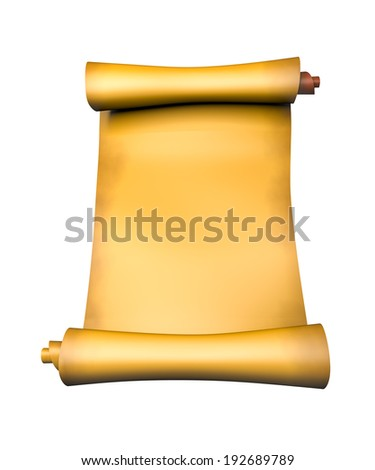 Old parchment paper scroll - 3d illustration - stock photo