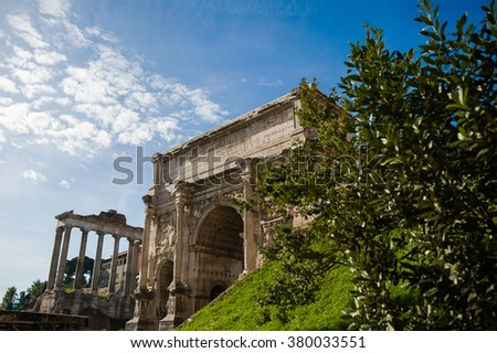 Old part of Rome. Forum