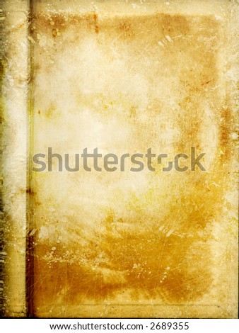 old partchment with grunge - stock photo