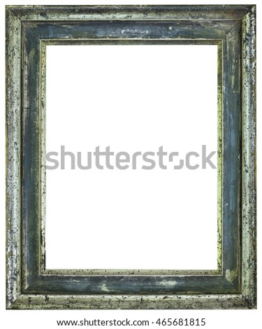Old Patina Wooden Picture Frame Cutout