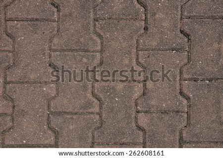 Old pavement - stock photo