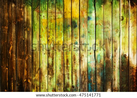 Old peeled wooden planks background.Old abstract dirty wood background, closeup wood photo. Wooden planks. Wood boards background. Green wood texture.