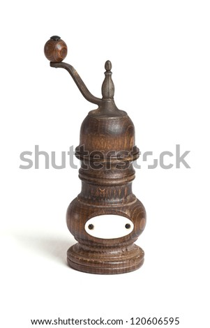 old pepper and salt grinder - stock photo