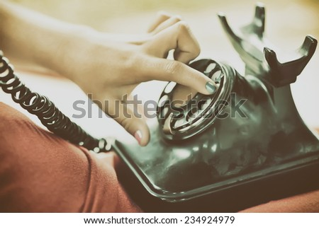 Old phone.  - stock photo