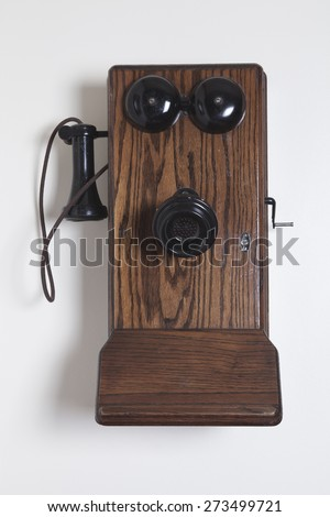 old Phone sets - stock photo