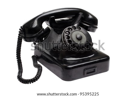 Old phone - vintage phone - stock photo