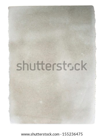 Old photo card isolated on white - stock photo