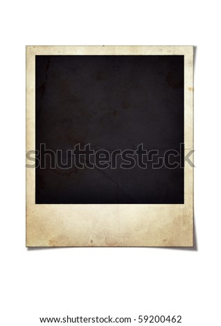 Old photo frame,illustration - stock photo