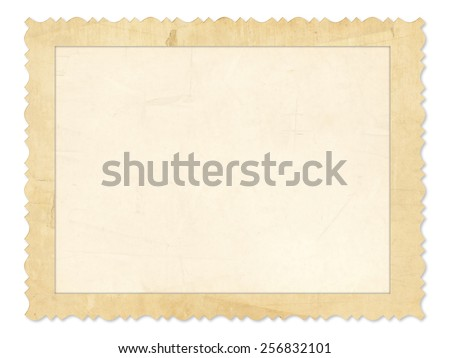 Old Photo Frame Illustration Against White Background - stock photo