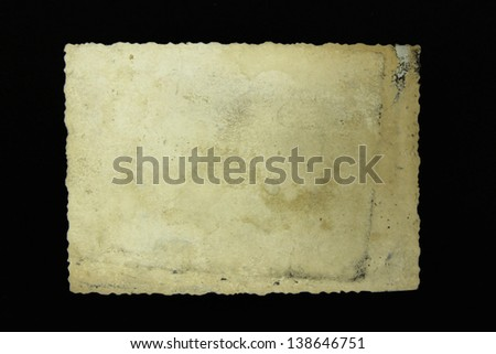old photo frame on black background - stock photo