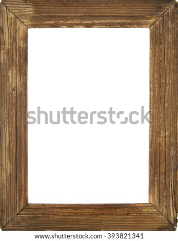 old photo framer isolated on a white background